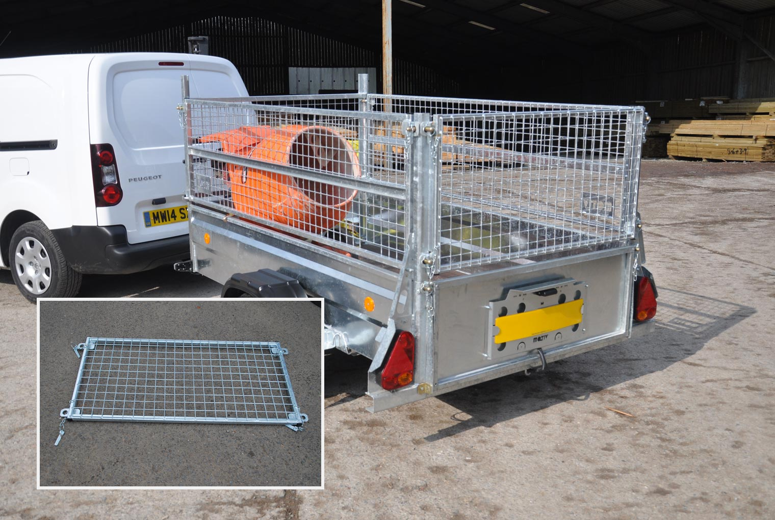 Mesh Rear Top Panel Relo Trailer Accessory